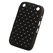 Tortoise™ Soft Silicone Case BlackBerry® Curve™ 9320 Diamante Quilt Black
