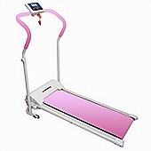 Confidence Pink Power Plus Motorised Folding Treadmill Running Machine