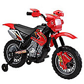 Kids Mini Motocross 6v Scrambler Battery Operated Electric Motorbike - Red
