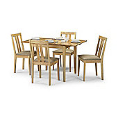 Rufford Natural Rubberwood Wooden Extending Dining Table