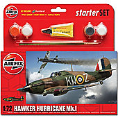 Airfix A55111 Hurricane Mk1 Starter Set Small 1:72 Aircraft Model Kit