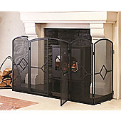 Crannog Hearth Surround Stove Screen - 81 cm H x 137 cm W x 46 cm D