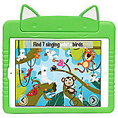 Kids Shock Proof Green Kitty Case For The iPad Air 2 / 1