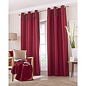 Catherine Lansfield Home Opulent Velvet Red Curtains 90x90
