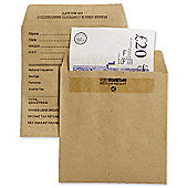 New Guardian Wage Envelopes Press Seal Medium Printed Pocket Manilla 108x102mm [Pack 1000]