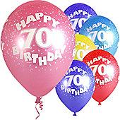 """Age 70 - 12"""" Superprint Balloons ASST (5pk)"""