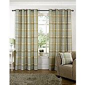 Hannah Ready Made Curtains Pair, 90 x 90 Meadow Colour, Modern Designer Look Eyelet curtains