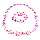 Bigjigs Toys BJ986 Flower and Butterfly Jewellery Set