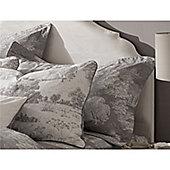 Kew Gardens Toile Oxford Pillowcase - Grey