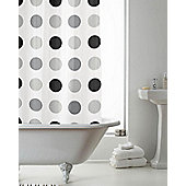 PEVA Shower Curtain Spotted - Grey