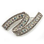 Dazzling Crystal Fancy Brooch (Silver Tone)