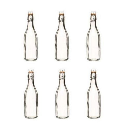 Glass Roma Bottle 250ml, Set of 6