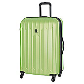 IT Luggage Ultra Strong 4-Wheel Hard Shell Suitcase, Lime Large