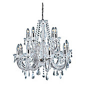 2 Tier Marie Therese Chandelier in Polished Chrome