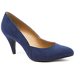 Emilio Luca X Ladies Two Part Stiletto Navy Heeled Court Shoes