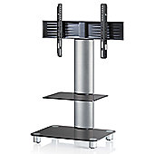 VCM Tosal TV Stand - Silver Brushed / Black