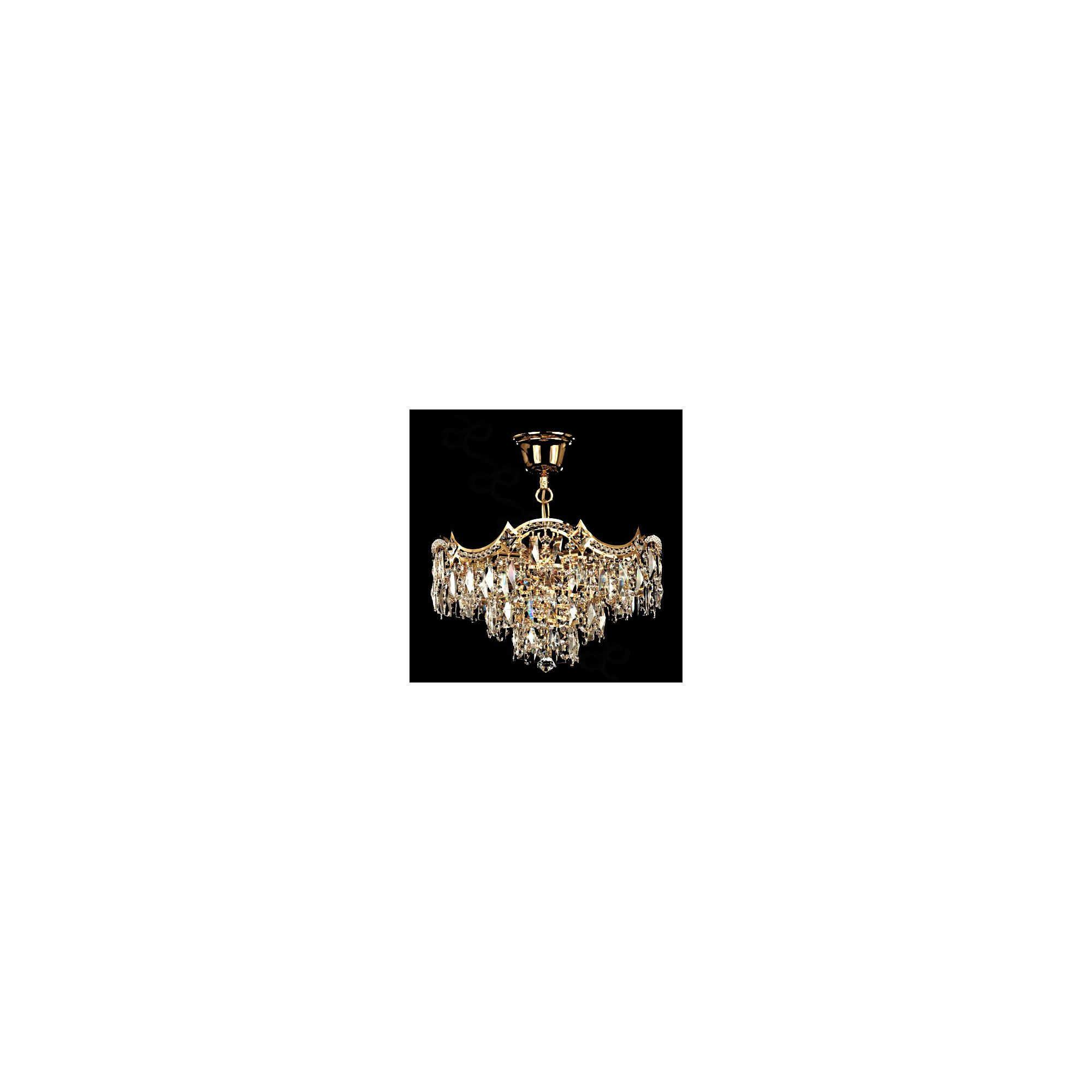 Azad Electricals Wave 35cm 3 Light Chandelier - Chrome - Strass at Tesco Direct