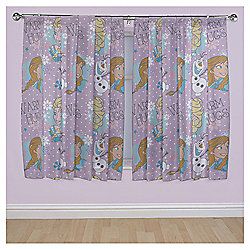 "Disney Frozen Anna, Elsa and Olaf Curtains W168xL183cm (66x72"")"