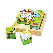 Bigjigs Toys BJ536 Animal Cube Puzzle