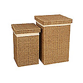 Wicker Valley Seagrass Linen Basket (Set of 2)