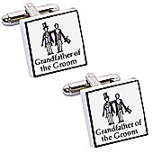 Perfect Day Grandfather of the Groom Wedding Cufflinks