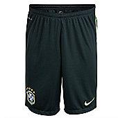 2014-15 Brazil Nike Longer Knit Shorts (Black) - Black