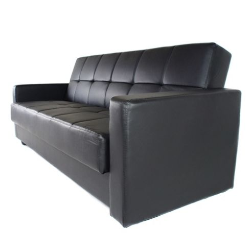 Alpha furniture Sigma Faux Leather Sofa Bed - Black