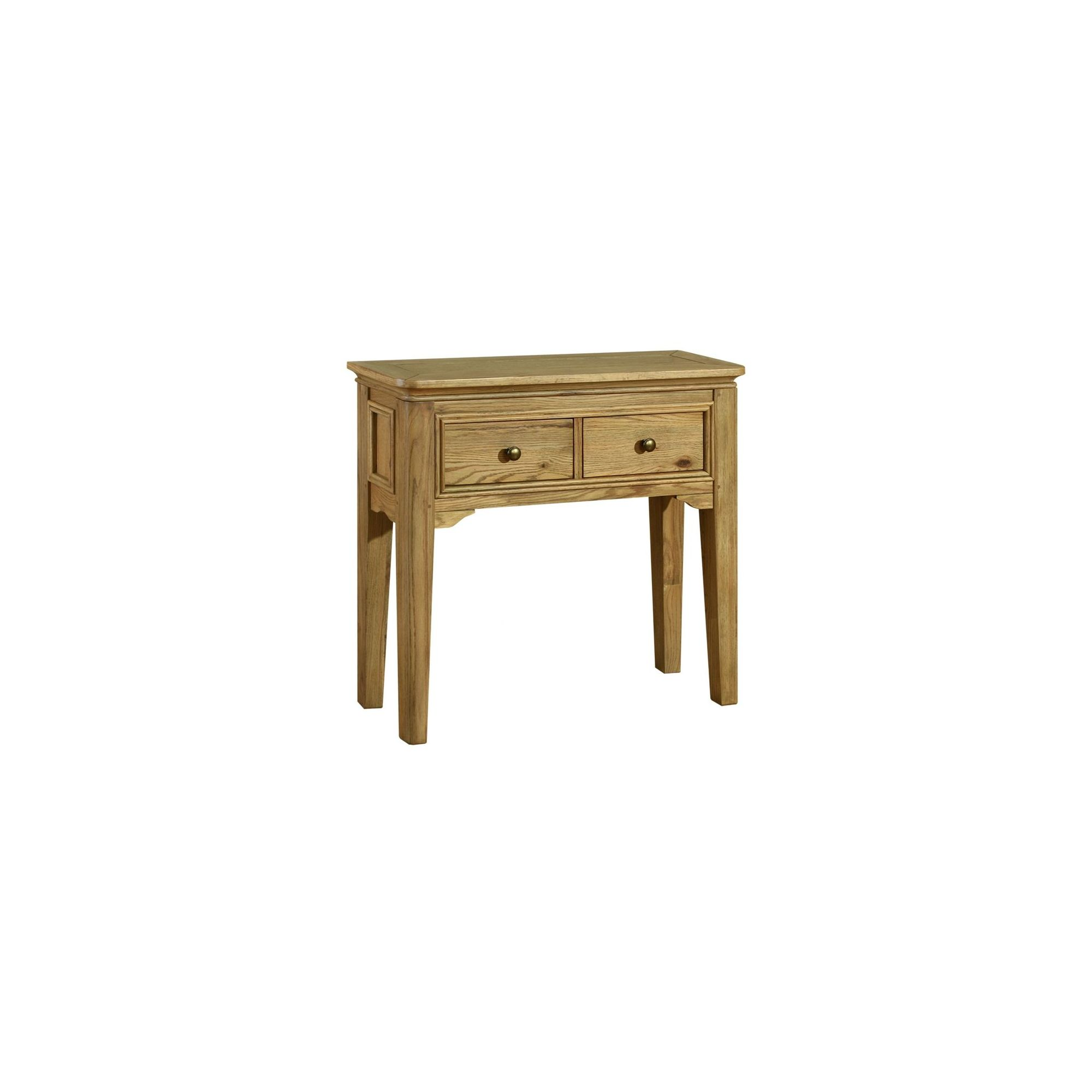 Kelburn Furniture Loire Console Table in Light Oak Stain and Satin Lacquer at Tesco Direct