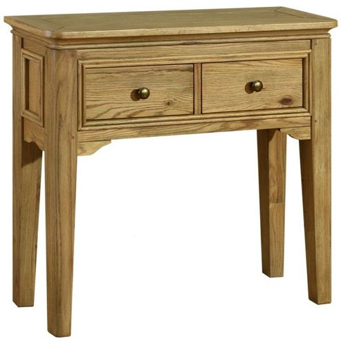 Kelburn Furniture Loire Console Table in Light Oak Stain and Satin Lacquer