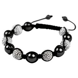 Silver and Black Crystal Bracelet