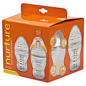 Vital Baby Nurture Breast-like Feeding Bottle 240ML x4
