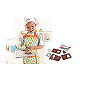 Hape Cookery Set Bundle - Apron And Gingerbread Baking Set