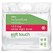 Tesco Soft Touch Single Duvet 13.5Tog with Anti - Allergy Treatment