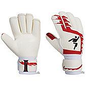 Precision Football Classic Red Rollfinger Finger Protection Gk Gloves - White