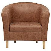 Tub Chair L/Effect Ant/Chestnut