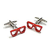 Red Framed Glasses Cufflinks