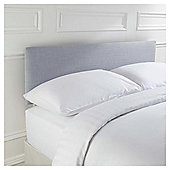 Seetall Mittal Headboard Linen Effect Light Grey Double