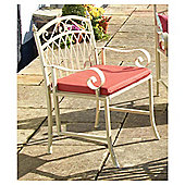 Versailles Garden Chair Cushions, Terracotta