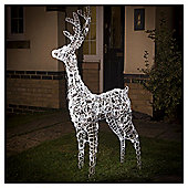 1.3m Light up LED Christmas Reindeer, White