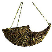 Plant - 9inch Willow / Rattan Horn Hanging Basket - Brown