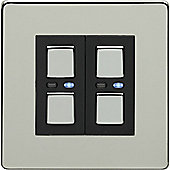 Megaman LightwaveRF 250W 2 Gang Dimmer (Chrome)