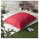 Giant Polyester Outdoor Floor Cushion, Red