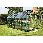 Europa Manor Viscount Greenhouse – 8 x 12 - Green Finish – Toughened Glass