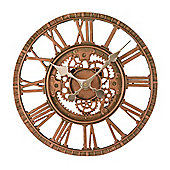 Outside In Newby Bronze Mechanical Wall Clock 12in