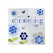 Sherbet Fizz Christening Card - Boy