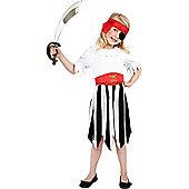 Child Simple Pirate Girl Costume Medium