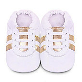 Shoo Shoos - White Gold Sporty Baby Shoes 6-12 Months