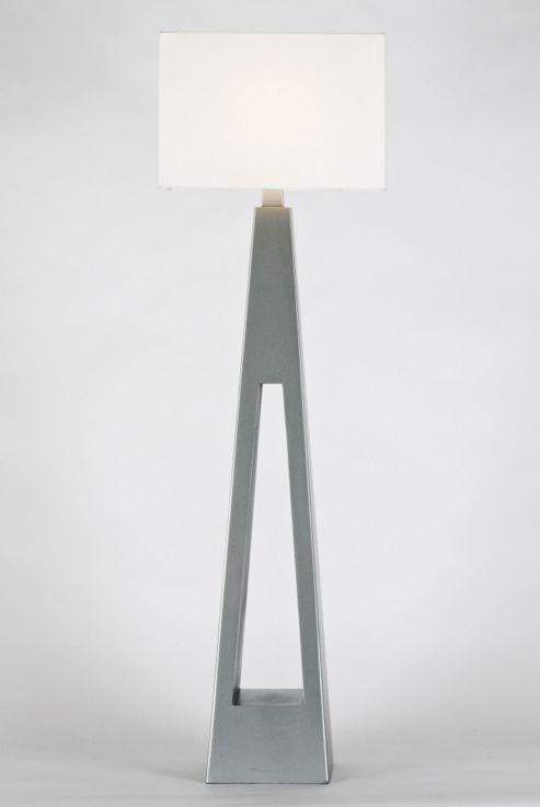 Lighting In:Style Shangrilla Wooden Floor Lamp in Silver
