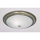 Endon Lighting Dimmable Flush Mount in Antique Brass - Antique