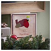 Tesco Luxury Robin Christmas Cards, 6 Pack